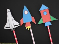 Learn how to make straw rockets with these easy instructions. Kids will have fun blasting them to space. Try to land your straw rocket on the moon target. Rocket Ship Craft, Diy Rocket, Origami Rocket, Straw Rocket, Paper Rockets, Dragons Love Tacos, Moon Party, Space Rocket, Moon Child