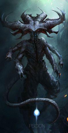 voodo creature a5  original print.artwork by paul winters