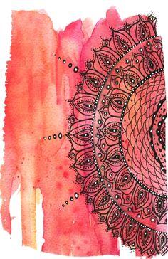 """Red Mandala"" Art Print - Art by Li Zamperini Art | Cupick"