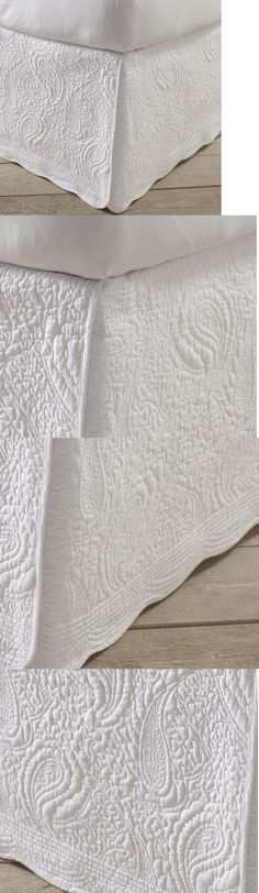 Bed Skirts 20450: Anthropologie Alhambra Bedskirt Bed Skirt Queen ... : white quilted bed skirt - Adamdwight.com