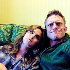 """""""theneiljackson: I always wanted a sister. And this one's real special… @Stana_Katic #TVFamily #absentia """""""