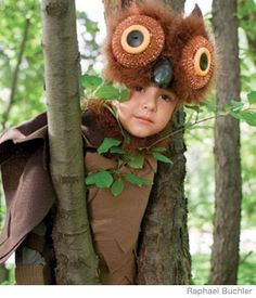 """What-a-hoot Owl Halloween Costume - We know """"who"""" will be the cutest trick-or-treater!   Click through for instructions."""