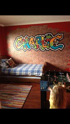 Graffiti childu0027s name bedroom wall & Personalised Graffiti Name Wall DecalS Wall Art Sticker Transfer ...