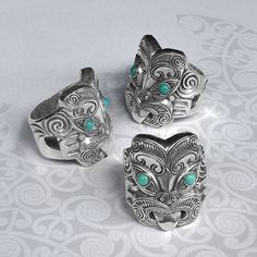 Maori Ring, New Zealand Tribal Warrior Ring, Handmade by Tuwharetoa Bone® God of War Warrior Ring, Tribal Warrior, New Zealand Art, Maori Art, Bone Carving, God Of War, Turquoise Stone, Steampunk Fashion, Pendant Jewelry