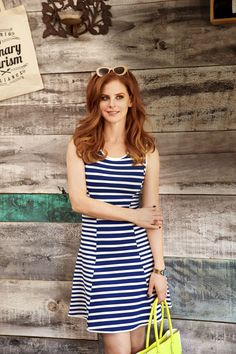 Horizontal stripes are seriously slimming in body-smoothing neoprene. And it's totally packable — no wrinkles!