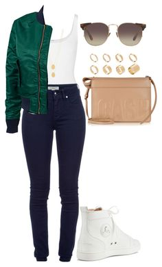"""""""Casual"""" by amoney-1 ❤ liked on Polyvore featuring Wolford, Burberry, Jennifer Zeuner, Schott NYC, Linda Farrow, 3.1 Phillip Lim, Christian Louboutin and ASOS"""