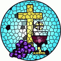 Bread (Body) Wine (Blood) of Christ Clip Art.