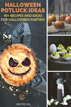 Whether for a class party, office party or even block party, this list of easy halloween potluck ideas and food will get you in the halloween spirit so you can have a ghoulishly good time!  #halloween #halloweenrecipes