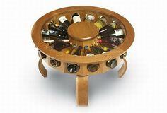 Diseño Elegante de Mesa para Almacenar y Exhibir los Vinos