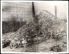 Riga, Latvia, A pile of bones.  In the ghetto or at a concentration camp. (or within the city.)