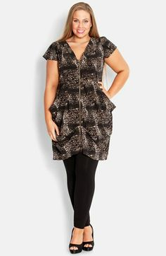 City Chic Zip Front Tunic (Plus Size) available at #Nordstrom