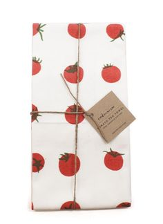 Eeek! So cute. Tomato Tea Towel, $18.