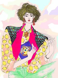 Jeremy Combot- Crazy Colored Fashion Illustration Jeremy Combot is a freelance illustrator from France. He is a self-taught artist and his work could be defined as a mixture of crazy colors / Fashion. Eccentric Style, Fashion Portfolio, Freelance Illustrator, Illustrations Posters, Fashion Illustrations, Collage, Mode Style, Colorful Fashion, Fashion Sketches