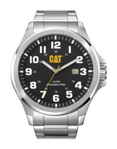 Caterpillar PU.141.11.111 Reloj Analógico para Hombre, Negro/Plateado