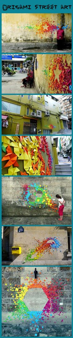 Origami street art…Urban Origami Installations on the Streets of Hong Kong and Vietnam by Mademoiselle Maurice