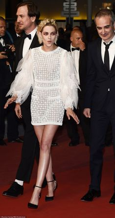 The belle of Cannes:Kristen Stewart was back on the Palais des Festivals red carpet at th...