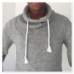 Ravelry: REX Sweater pattern by You can find Men sweater and more on our website.Ravelry: REX Sweater pattern by Crochet Men, Crochet Hoodie, Crochet For Boys, Crochet Books, Crochet Cardigan, Cute Crochet, Crochet Hats, Crochet Pattern, Crochet Bodycon Dresses