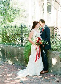 Savannah bride and groom captured by The Happy Bloom. See more on Savannah Soiree: http://www.savannahsoiree.com/journal/quaint-savannah-wedding-in-chatham-square