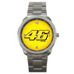 Valentino Rossi 46 VR 46 Logo Sport Metal Watch | zarkop - Jewelry on ArtFire