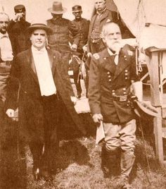 William McKinley (left) and General Wheeler (right) inspect a military hospital on Montauk Point during the Spanish-American War.