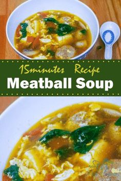 Meatball soup recipe. Meatball can be cooked in multiple ways, it does not necessarily go with pasta and tomato sauce all the time. Here is a new recipe for you, meatball tofu soup. Enjoy!
