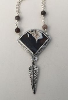 Fossilised Wood/Sterling Silver pendant