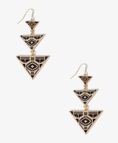 FOREVER 21 Southwestern Triangle Earrings on shopstyle.com