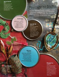 BHG Passage to India - Love this color palette