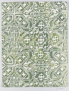 Morocco, Fortuny. Antique Italian cotton fabric.