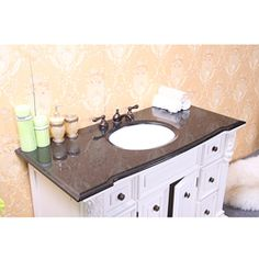 @Overstock - Update your bathroom decor with this single sink vanity from Legion Furniture. This granite counter top features six drawers and two soft-closing doors.http://www.overstock.com/Home-Garden/Granite-Top-48-Inch-Single-Sink-Bathroom-Vanity/6133454/product.html?CID=214117 $1,191.99