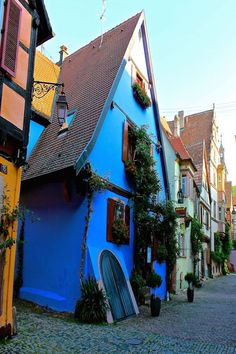 Charming French village of Riquewihr where Disney storytellers visited to create the Beauty and the Beast Village.