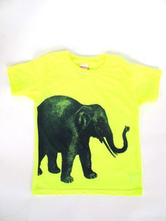 NEON yellow lucky elephant t  Lucky Fish