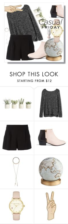 """""""greyn and nude casual"""" by halfmalik on Polyvore featuring moda, Allstate Floral, Gap, Boutique Moschino, Nine to Five, Wanderlust + Co, Bellerby & Co, Kate Spade y Lucky Brand"""