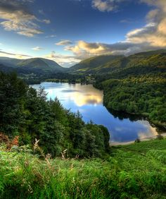 Grasmere by asheers, via Flickr. Lake District, England, UK. I would move to England in a nanosecond for that view...