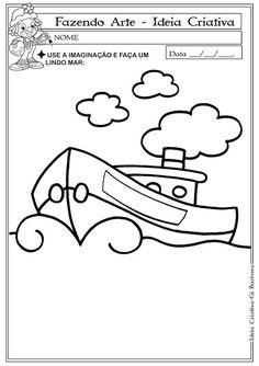 Plano de Aula Fazendo Arte com Bucha ou Papel Rasgado | Ideia Criativa - Gi Barbosa Educação Infantil