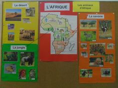Les paysages d'Afrique Les Continents, Art Africain, Jungle Theme, Habitats, Teaching, Baseball Cards, School, Images, Geo