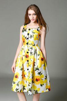 49ade6bd5db Цветочные Женщины Летние Платья 2016 Новая Мода Цветочный Печати Спагетти  Ремень Рукавов Плиссированные Платья Повседневная Колен
