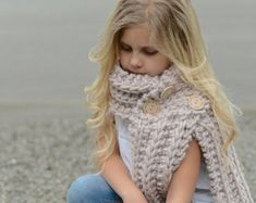 KNITTING PATTERN Venyce Cowl Toddler Child and by Thevelvetacorn