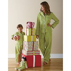 Our matching mother-daughter pajamas offer great looks in super soft flannel for ultimate coziness – just for the girls!