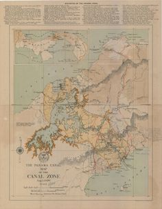 http://todaysdocument.tumblr.com/post/94817076466/the-panama-canal-before-and-after-map-of-the