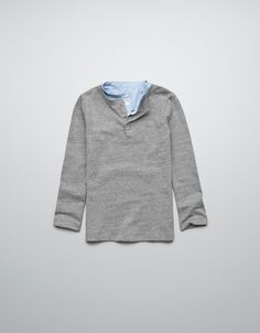 T-SHIRT WITH SHIRT DETAILS AND ELBOW PATCHES - T-shirts - Boy (2-14 years) - Kids - ZARA United States