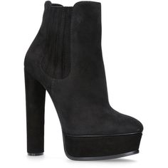 Casadei Arum Chelsea Ankle Boots ($1,030) ❤ liked on Polyvore featuring shoes, boots, ankle booties, suede chelsea boots, suede boots, suede ankle booties, high heel platform boots and platform booties
