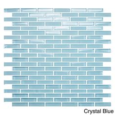 EmryTile Vetro Staggered Brick Glass 12x12 Wall Tile Sheets (Pack of 10) | Overstock.com Shopping - The Best Deals on Wall Tiles