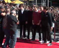 The boys on the Red Carpet