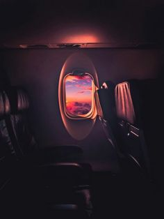 Airplane seat view