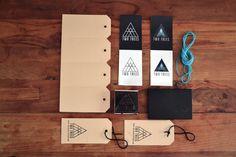Two trees identity, logo, identity, stamp, brand, triangle, label,