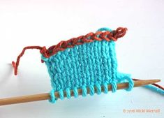 This tutorial for left-handed knitters shows you how to do a crochet provisional cast-on, useful when you need live loops at both ends of your knitting. Provisional Cast On, Cast On Knitting, Left Handed, Stitch Markers, It Cast, Crochet, Glass House, Breien, Ganchillo