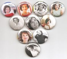 Proclaim your love of Jackie-O and wear a pin proudly!