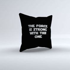 Black Star Wars Quote Throw Pillow