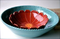 A flower bowl to brighten your day. #LauraTrevey #BrightBoldBeautiful